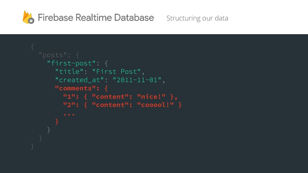 """Structuring our data """"comments"""": { """"1"""": { """"cont..."""