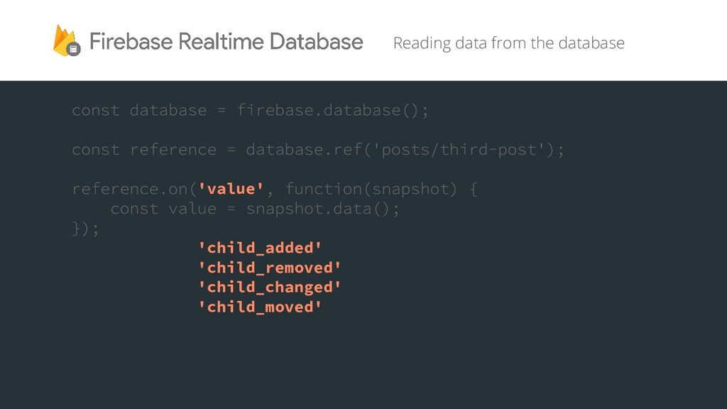 Reading data from the database 'value' 'child_a...