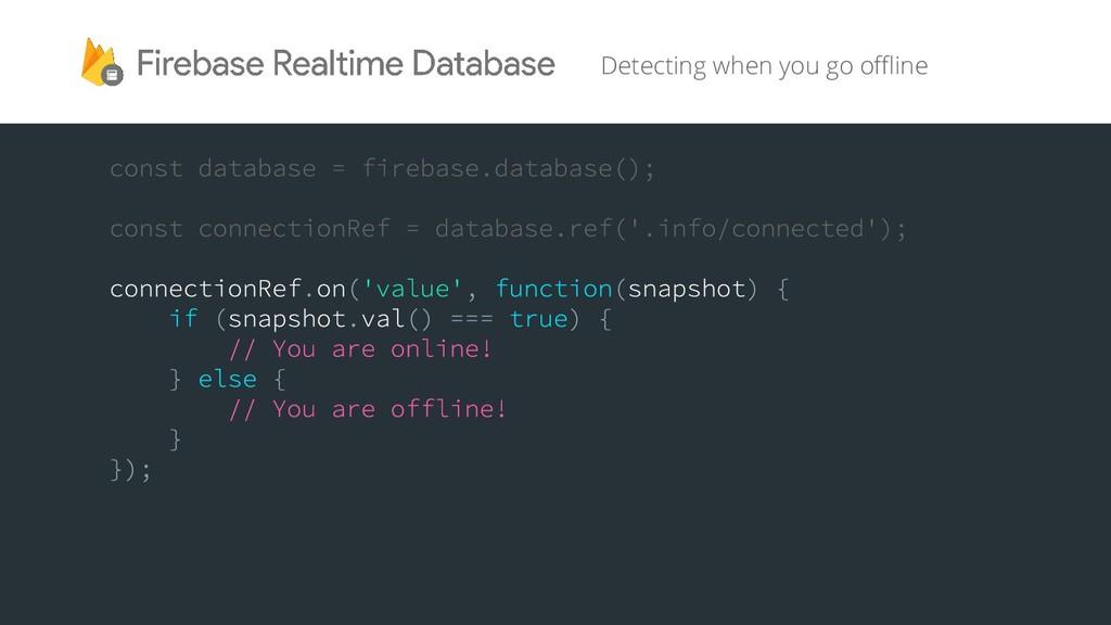 Detecting when you go offline