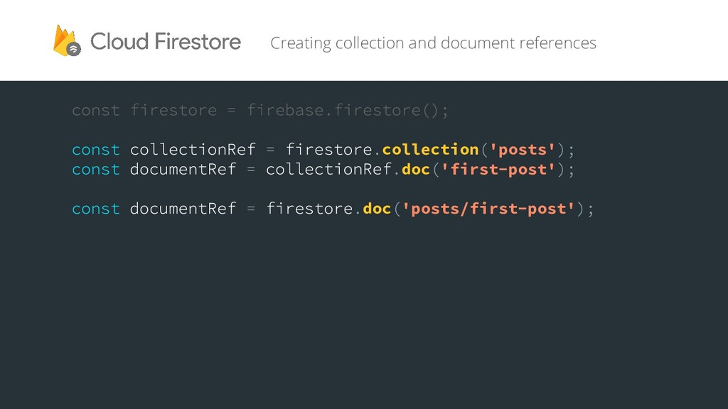 Creating collection and document references col...