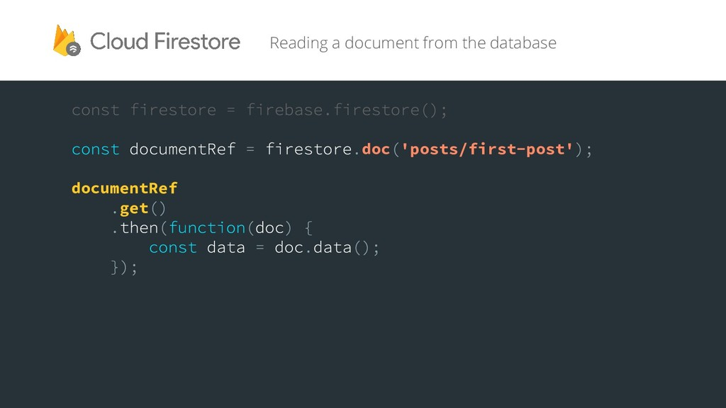 Reading a document from the database doc 'posts...