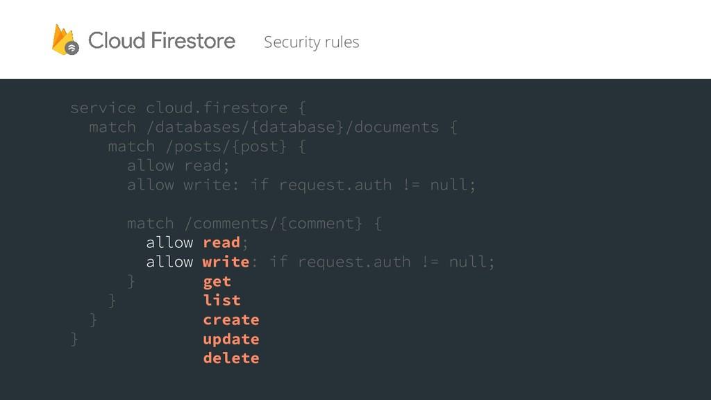 Security rules read write get list create updat...