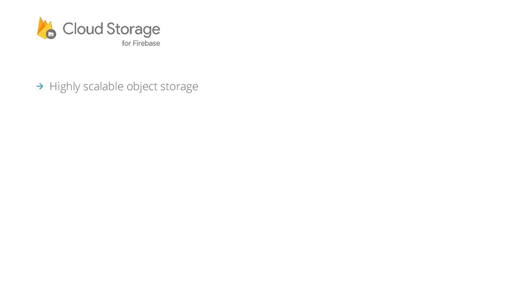 Highly scalable object storage