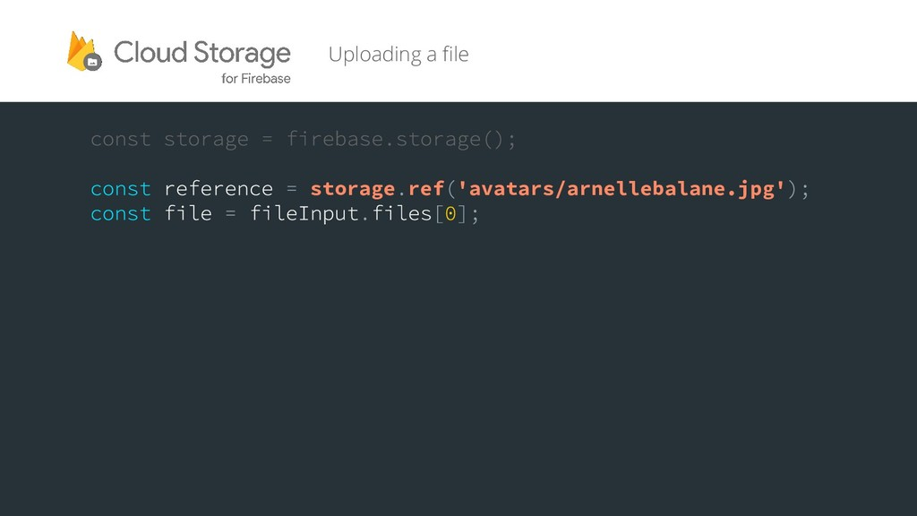 Uploading a file storage ref 'avatars/arnelleba...
