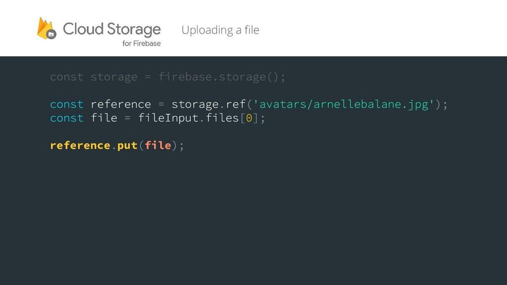 Uploading a file reference put file