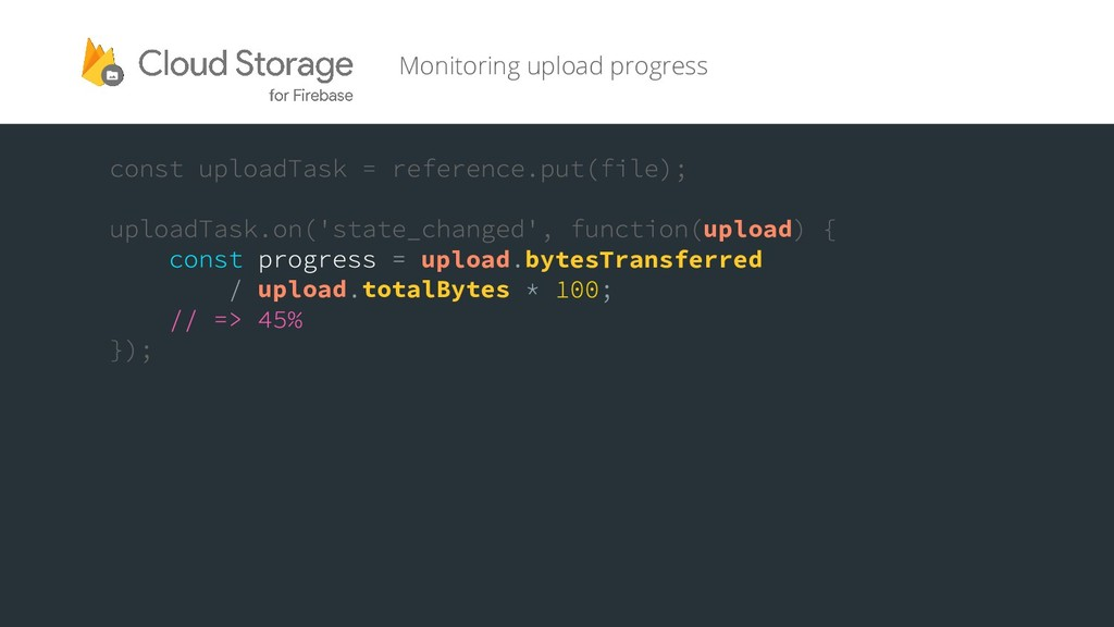 Monitoring upload progress upload upload bytesT...