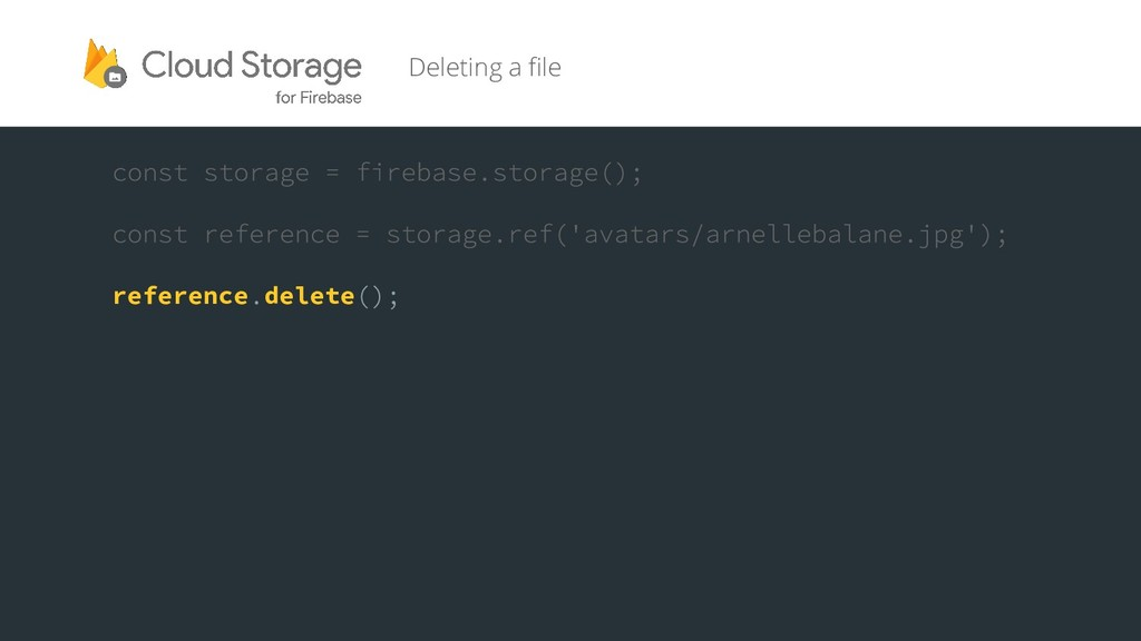 reference delete Deleting a file