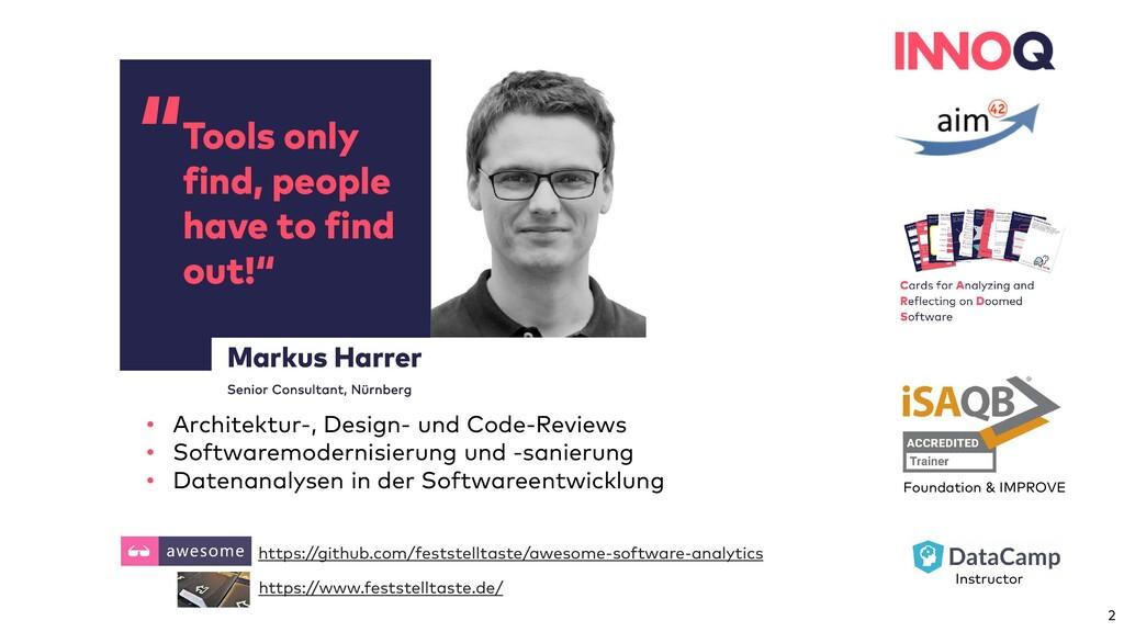 """"""" Markus Harrer Senior Consultant, Nürnberg Too..."""