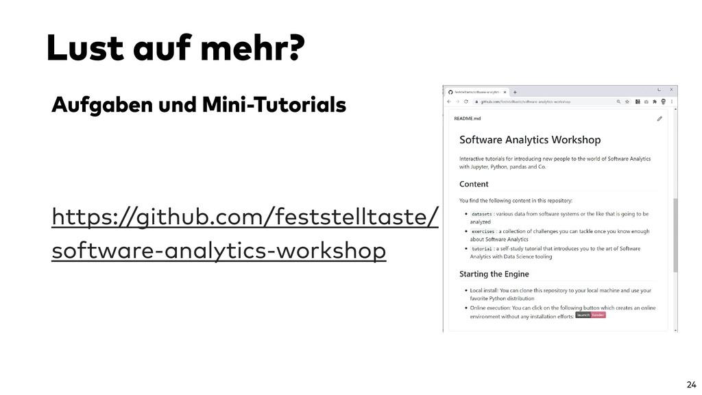 Aufgaben und Mini-Tutorials https://github.com/...
