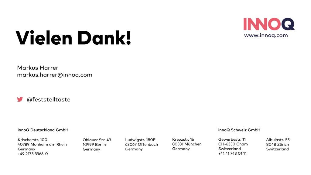 36 Vielen Dank! innoQ Deutschland GmbH Krischer...
