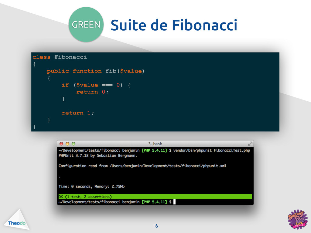 class Fibonacci { public function fib($value) {...