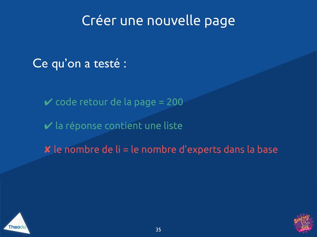 ✔ code retour de la page = 200 ✔ la réponse con...