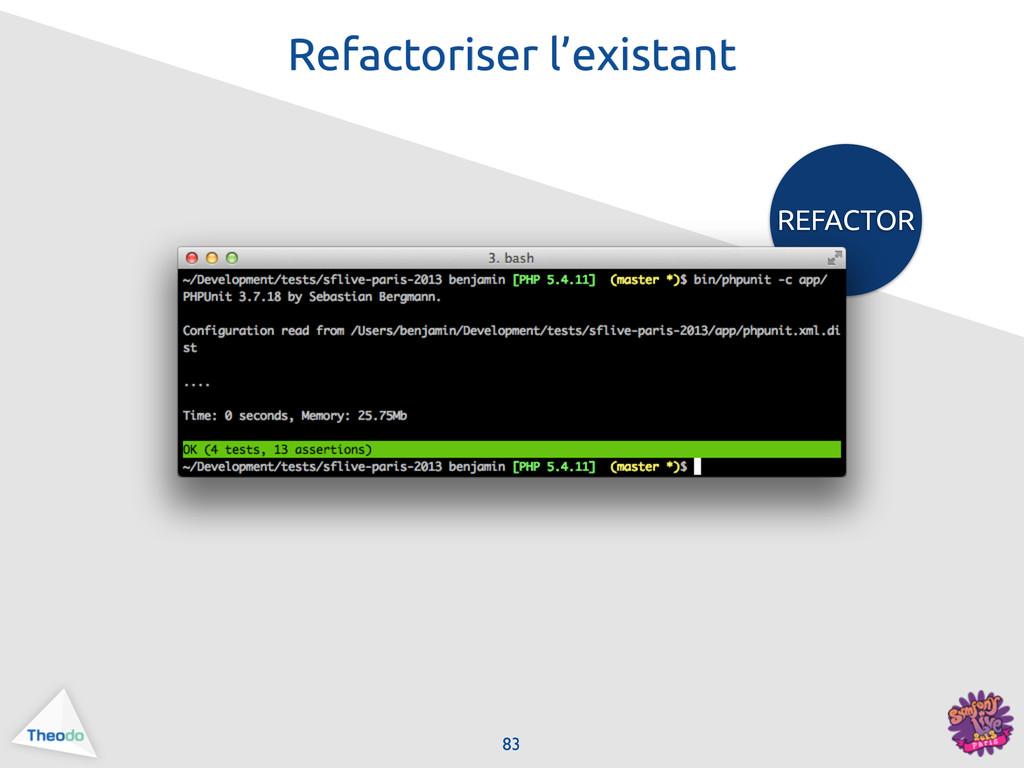 REFACTOR 83 Refactoriser l'existant