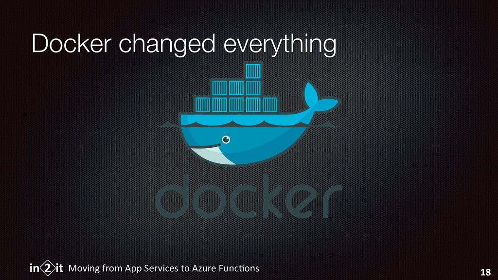 Docker changed everything Moving from App Servi...