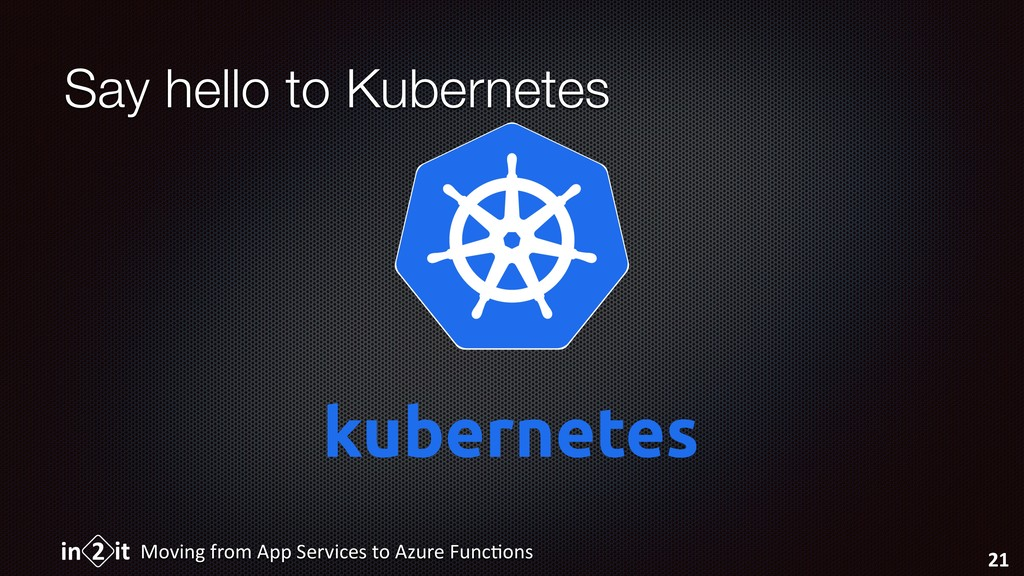 Say hello to Kubernetes Moving from App Service...