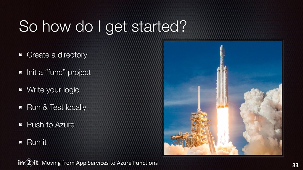 So how do I get started? Create a directory Ini...