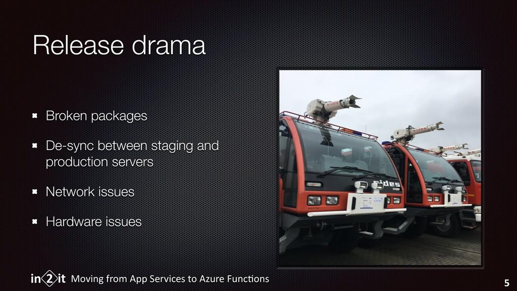 Release drama Broken packages De-sync between s...