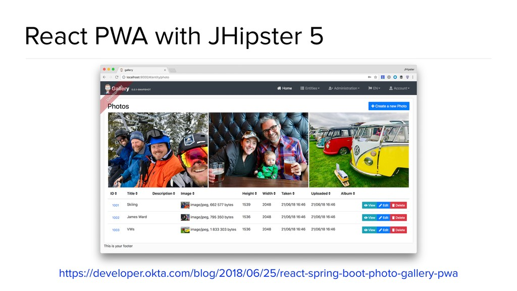 React PWA with JHipster 5 https://developer.okt...
