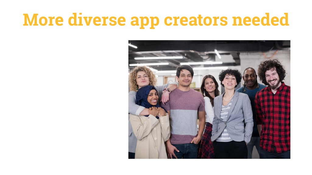 More diverse app creators needed