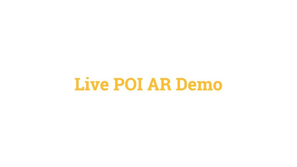 Live POI AR Demo