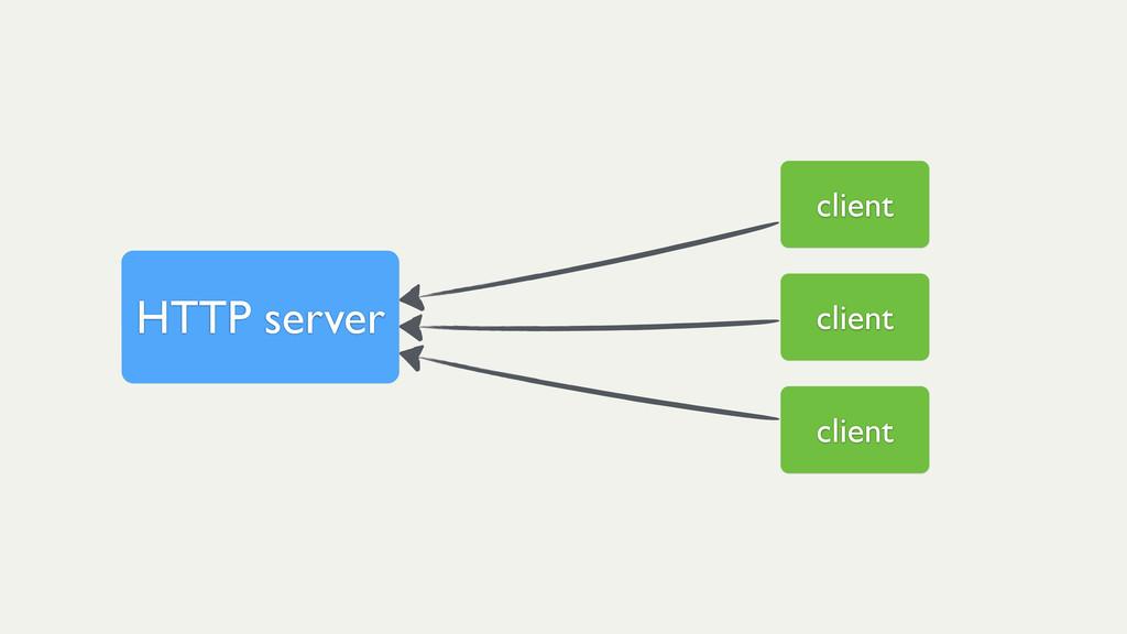 client client client HTTP server