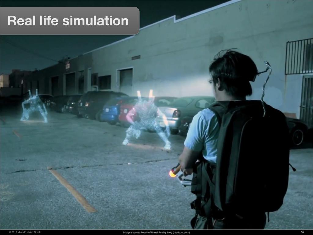 © 2012 Ideas Enabled GmbH 36 Real life simulati...