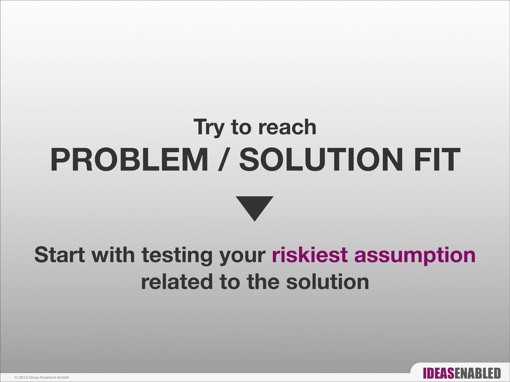 © 2012 Ideas Enabled GmbH Try to reach PROBLEM ...