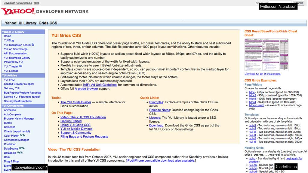 twitter.com/sturobson #codelicious http://yuili...