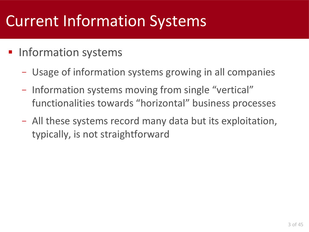 3 of 45 Current Information Systems  Informati...