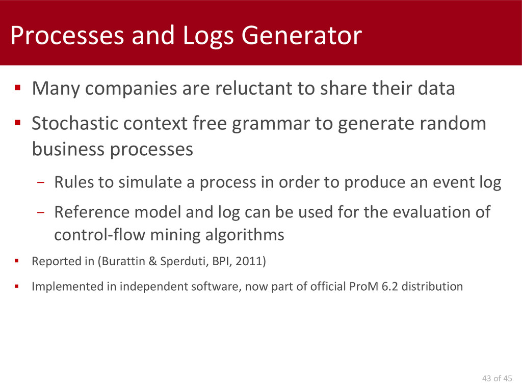 43 of 45 Processes and Logs Generator  Many co...