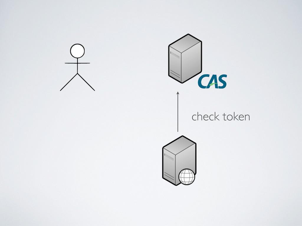 check token