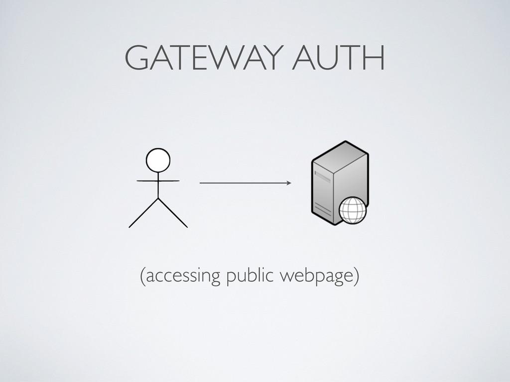 GATEWAY AUTH (accessing public webpage)