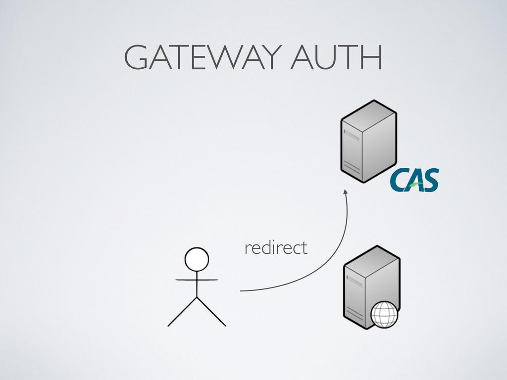 GATEWAY AUTH redirect