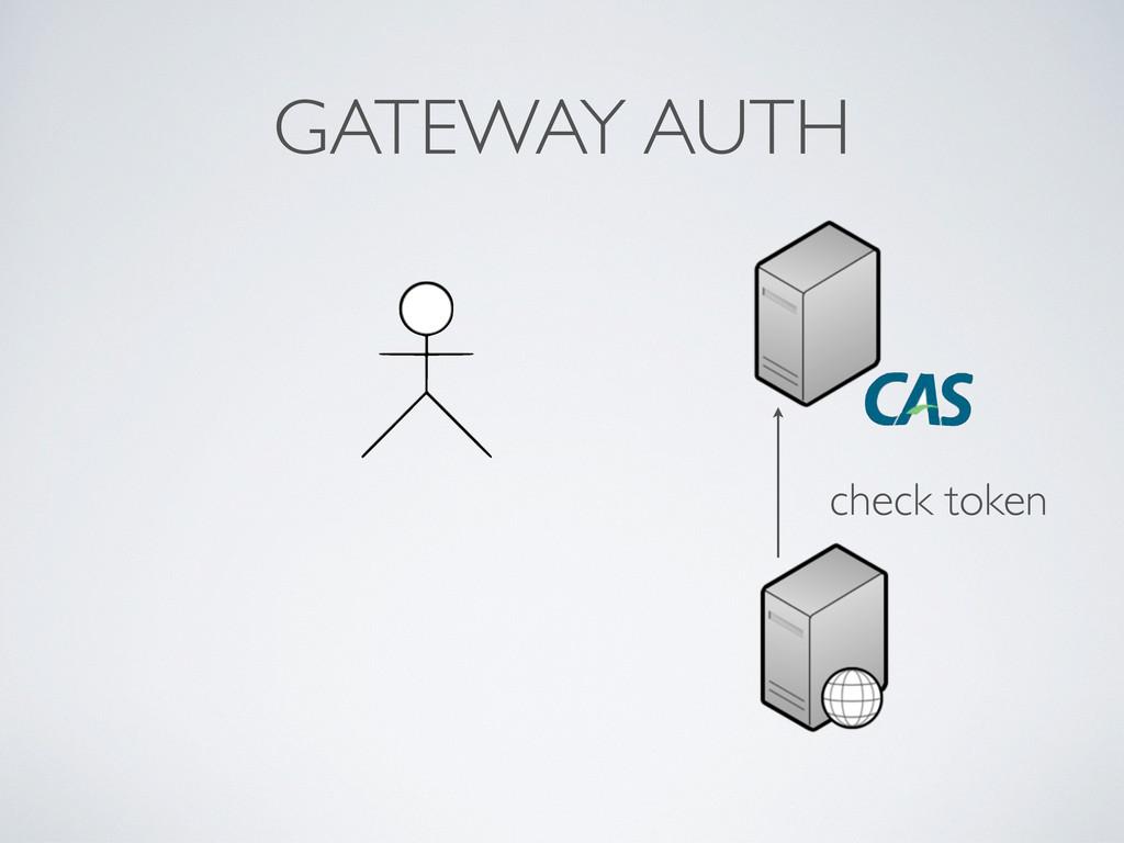 GATEWAY AUTH check token