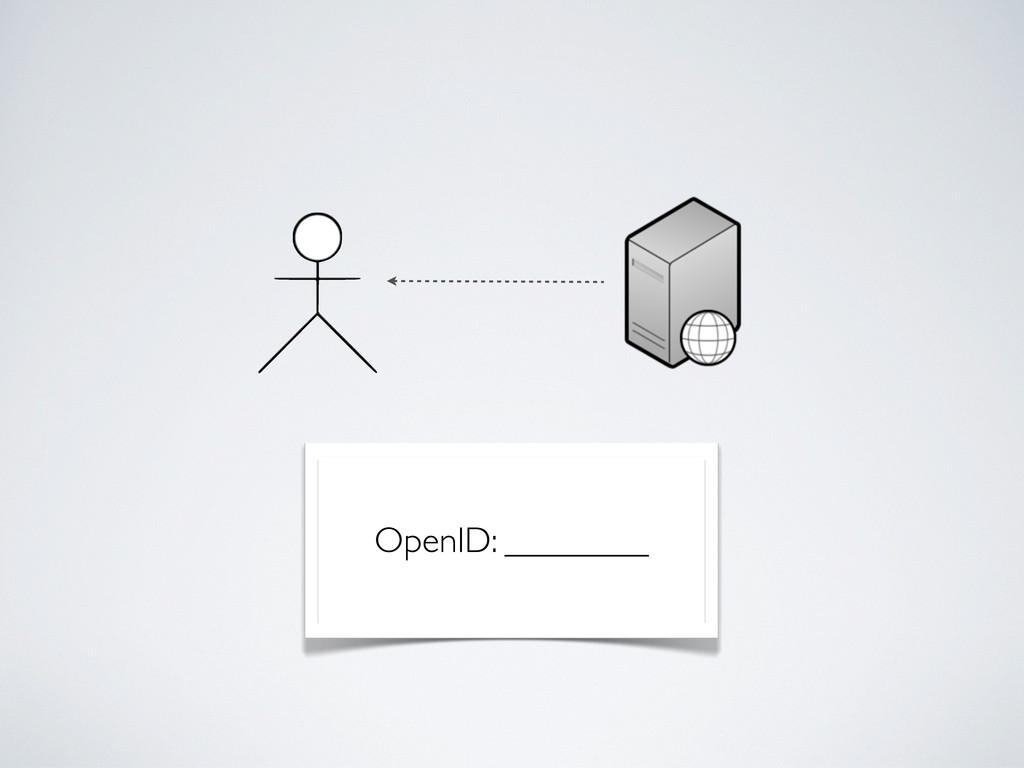 OpenID: ________