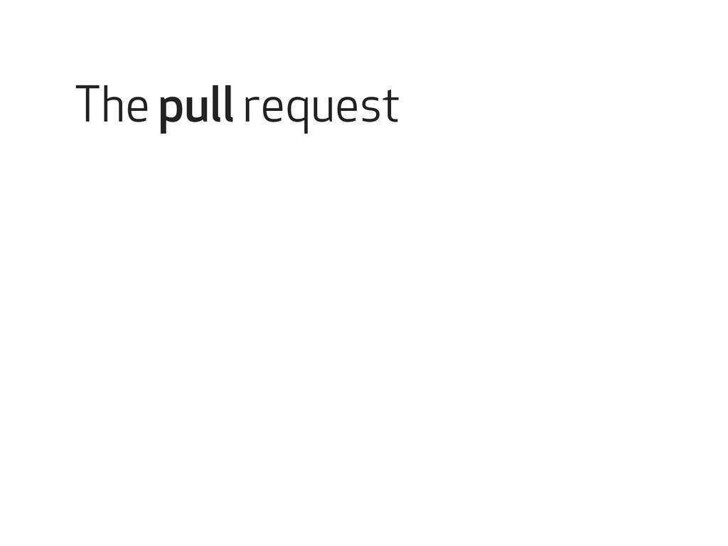 The pull request