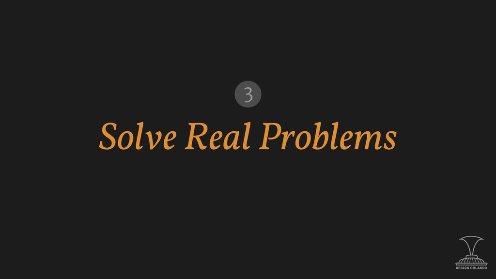 Solve Real Problems 3