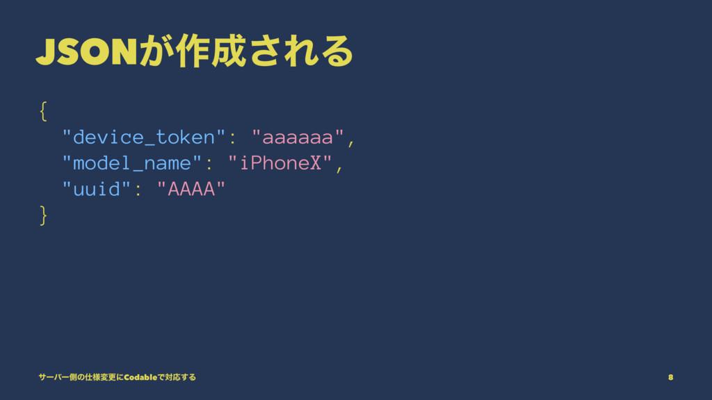 """JSON͕࡞͞ΕΔ { """"device_token"""": """"aaaaaa"""", """"model_n..."""