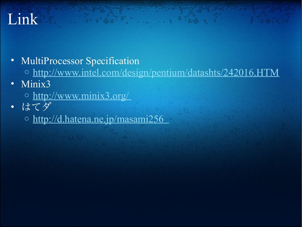 Link • MultiProcessor Specification o http://ww...
