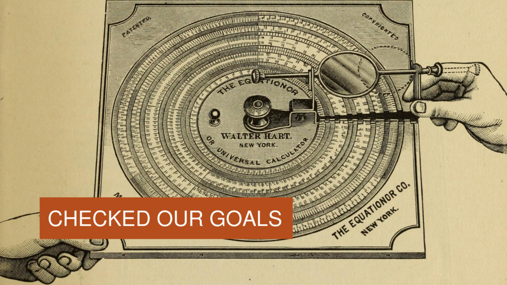 CHECKED OUR GOALS