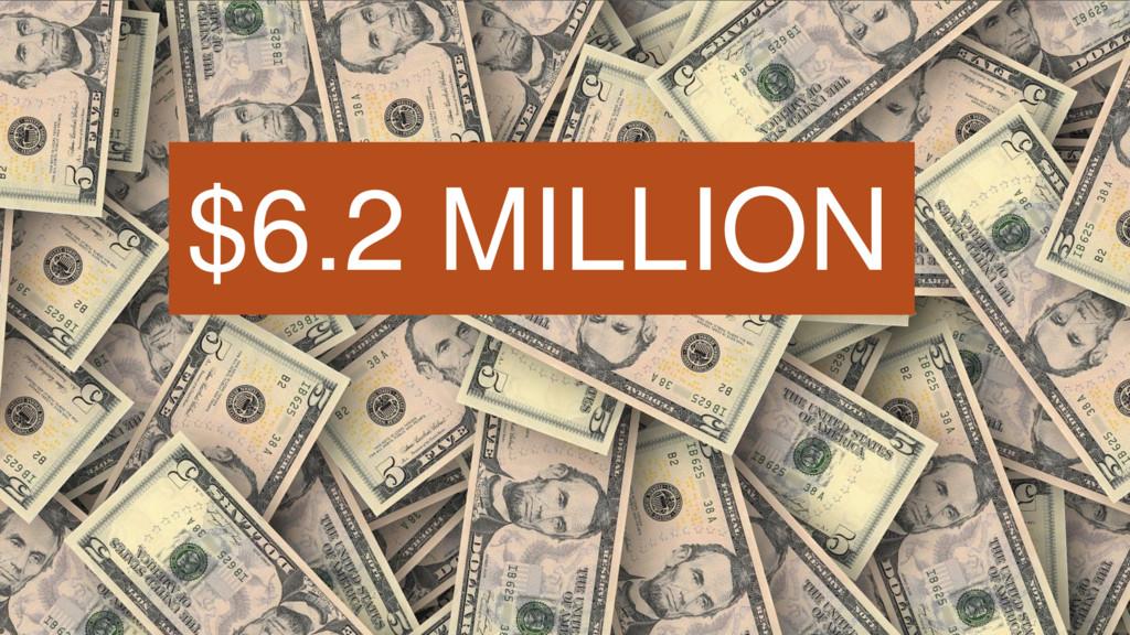 $6.2 MILLION