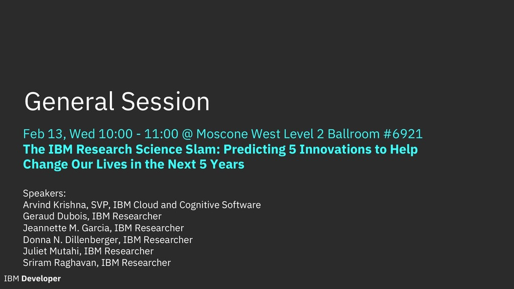 Feb 13, Wed 10:00 - 11:00 @ Moscone West Level ...