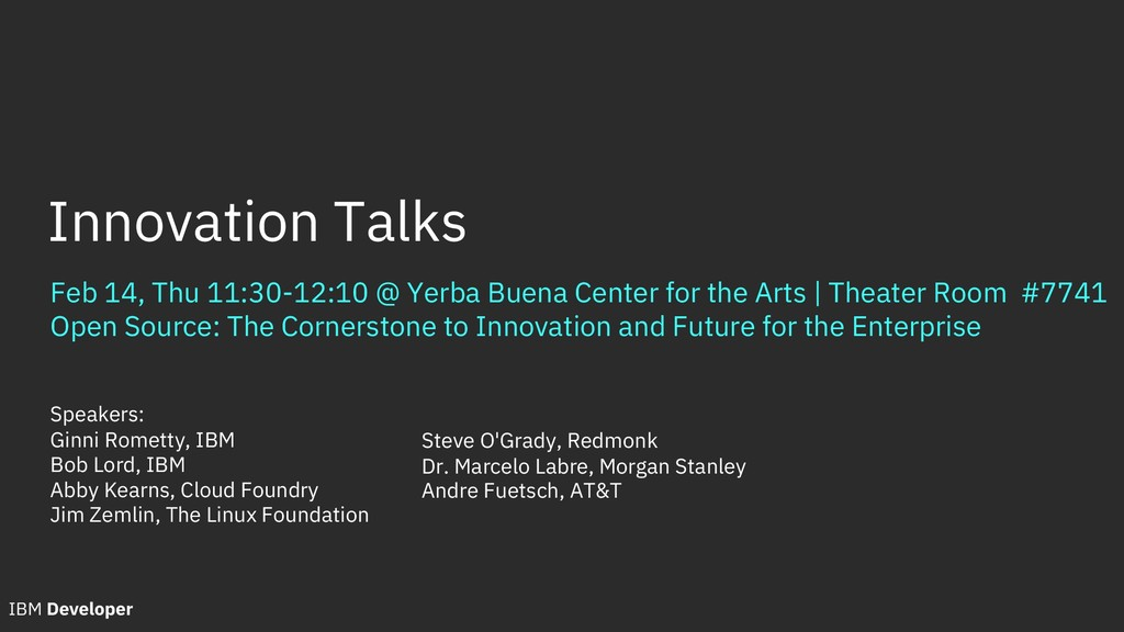 Feb 14, Thu 11:30-12:10 @ Yerba Buena Center fo...