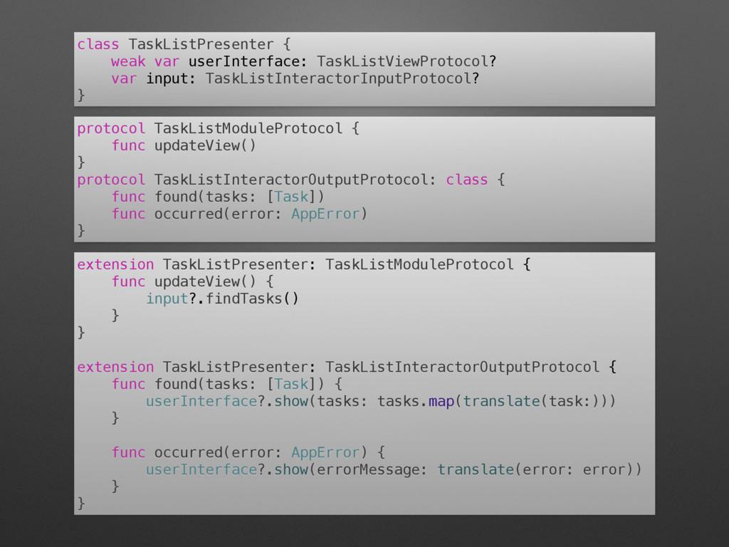 extension TaskListPresenter: TaskListModuleProt...