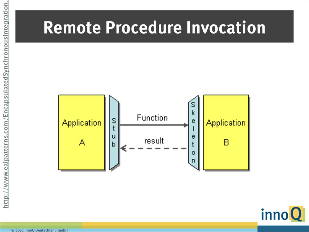© 2014 innoQ Deutschland GmbH Remote Procedure ...