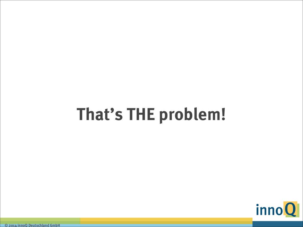 © 2014 innoQ Deutschland GmbH That's THE proble...