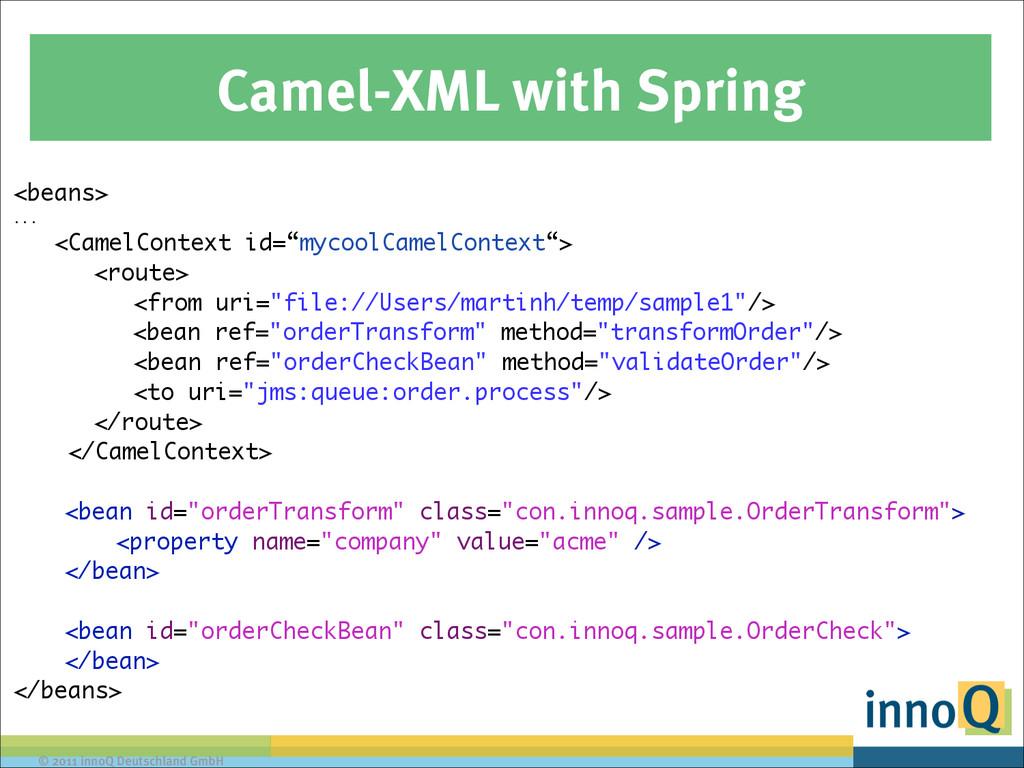 © 2011 innoQ Deutschland GmbH Camel-XML with Sp...