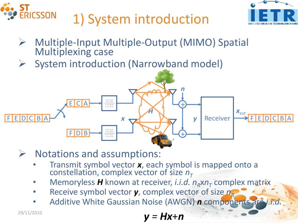 1) System introduction  Multiple-Input Multipl...