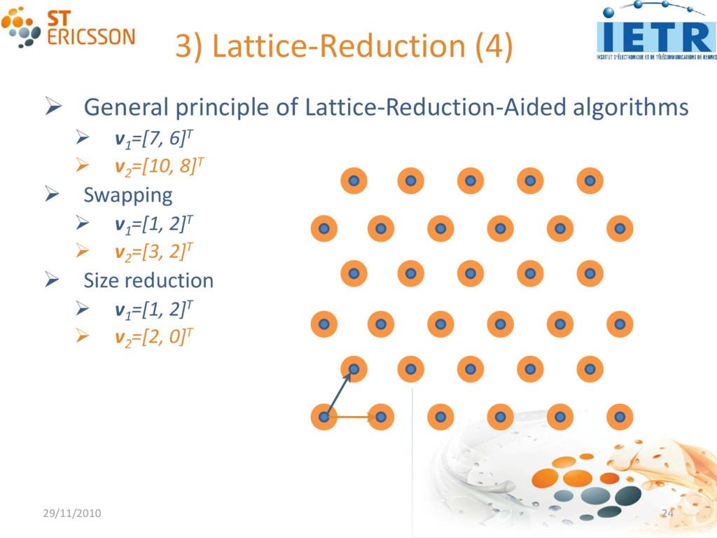 3) Lattice-Reduction (4)  General principle of...