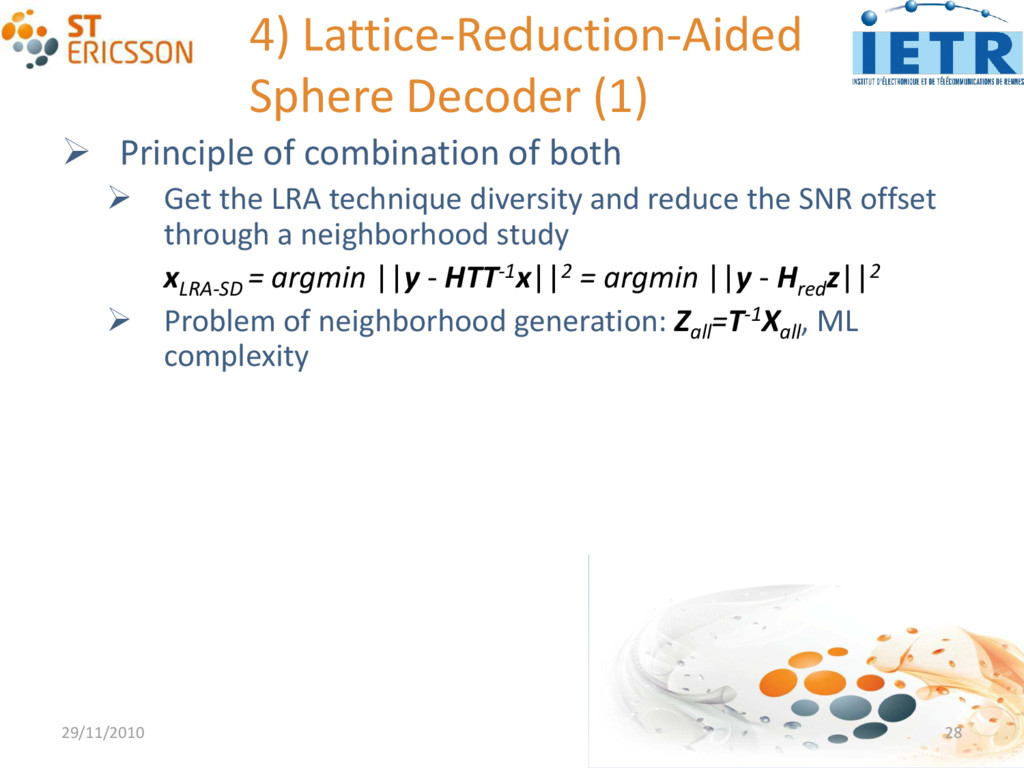 4) Lattice-Reduction-Aided Sphere Decoder (1) ...
